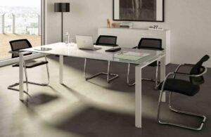 Doria / Table de réunion en verre Cuf Milano (ref. 28166i)