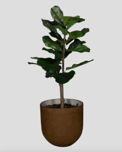 Lyrata Tanaman / Plante artificielle décorative H100 cm Tanaman (ref. 29747)